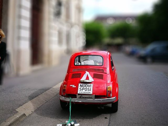 Just married! #hungary #eger #fiat500 #hellotourist #karltietze #classic #oldtimer
