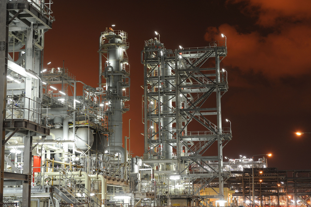 Pearl GTL, a világ legnagyobb gázszolgáltató vállalata este, Dohában (Fotó: Flickr/. Shell)