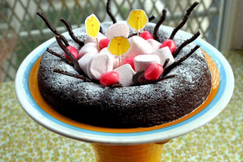 Nid de pâques, húsvéti fészek süti (Fotó: www.roseandcook.canalblog.com)