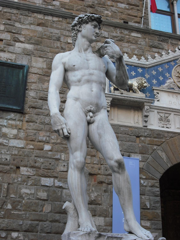A Dávid-szobor Michelangelótól Firenzében (Fotó: Nyitrai Réka Viktória)