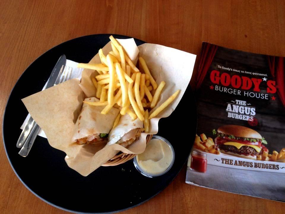 Tortilla tekercs a Goody's-ban (Fotó: Sztogi)