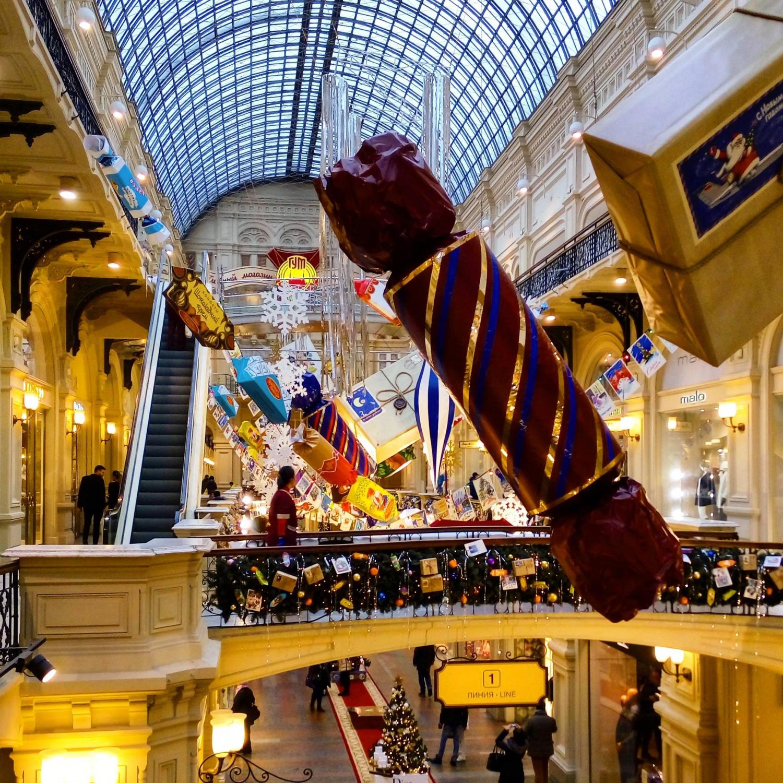 A GUM belülről, éppen karácsonyi hangulatban (Fotó: Takácsy Dorka)
