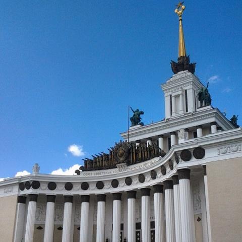 Monumentalizmus a VDNH-n Forrás (Fotó: Takácsy Dorka)