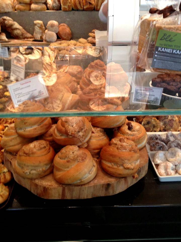 Péksütemények egy thesszaloniki pékségben (Fotó: Sztogi)