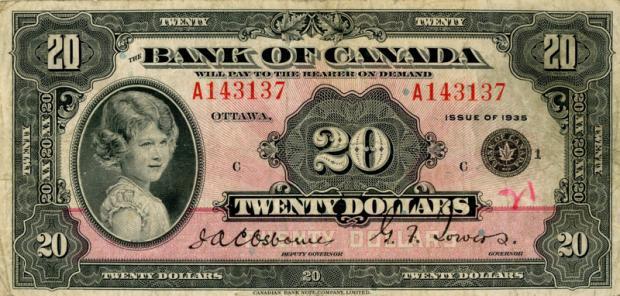 8 évesen a kanadai 20 dollároson (Kép: navonanumis.blogspot.hu)