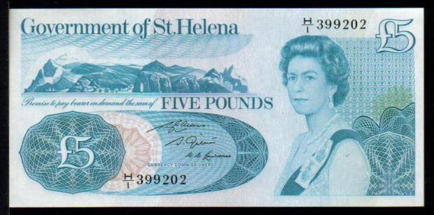 40 évesen a Szent Ilona-sziget 5 fontos bankjegyén (Kép: mebanknotes.com)