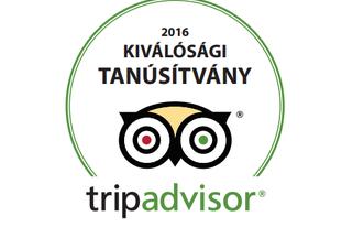 TripAdvisor Kiválósági Tanúsítvány – Miskolcon 10 díjazott