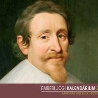Május 18.: Hugo Grotiust életfogytiglani börtönre ítélik (1619)