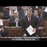 Egy hónapos a felhatalmazási törvény - videó