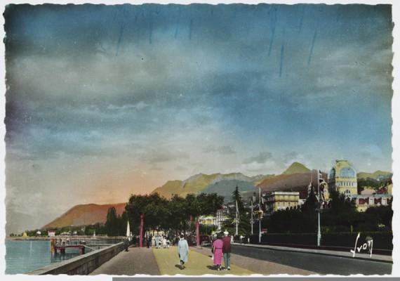 Evian-les-Bains a konferencia idején 1938 nyarán