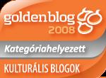 Goldenblog 2008 kategóriahelyezett - kultblogok