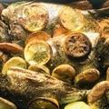 Sült aranydurbincs citrusos sörfürdőben