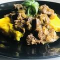 Marharagu birsalmával és sajtos polentával