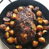Egyben sült fűszeres tarja, krumplival