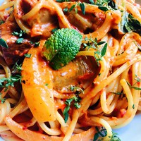 Sültpaprika krémes spagetti