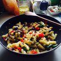 Sült zöldséges tészta