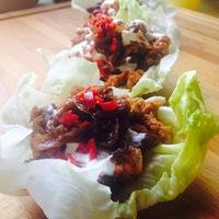 Fűszeres taco - salátalevélben