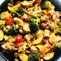 Kínai ötfűszeres serpenyős harcsa zöldségekkel