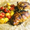 Pestos csirkemell leveles tésztabundában