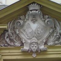 Serényi és Zichy címer - Budapest, Szentkirályi u. 16