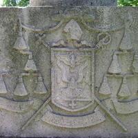 Tóth Tihamér címere - Budapest, Fiumei úti temető