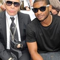 Karl Lagerfeld és Usher