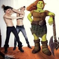 Vman magazin: fotósorozat a Shrek szereplőivel