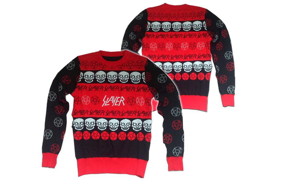 4831a55dd7 Karácsonyi pulóver trash-metál módra - HeStyle