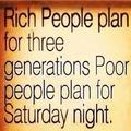 Hogyan tervez a gazdag és a szegény?