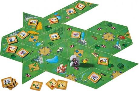 A Carcassone-hoz hasonlóan, itt is mi alakítjuk a játéktáblát