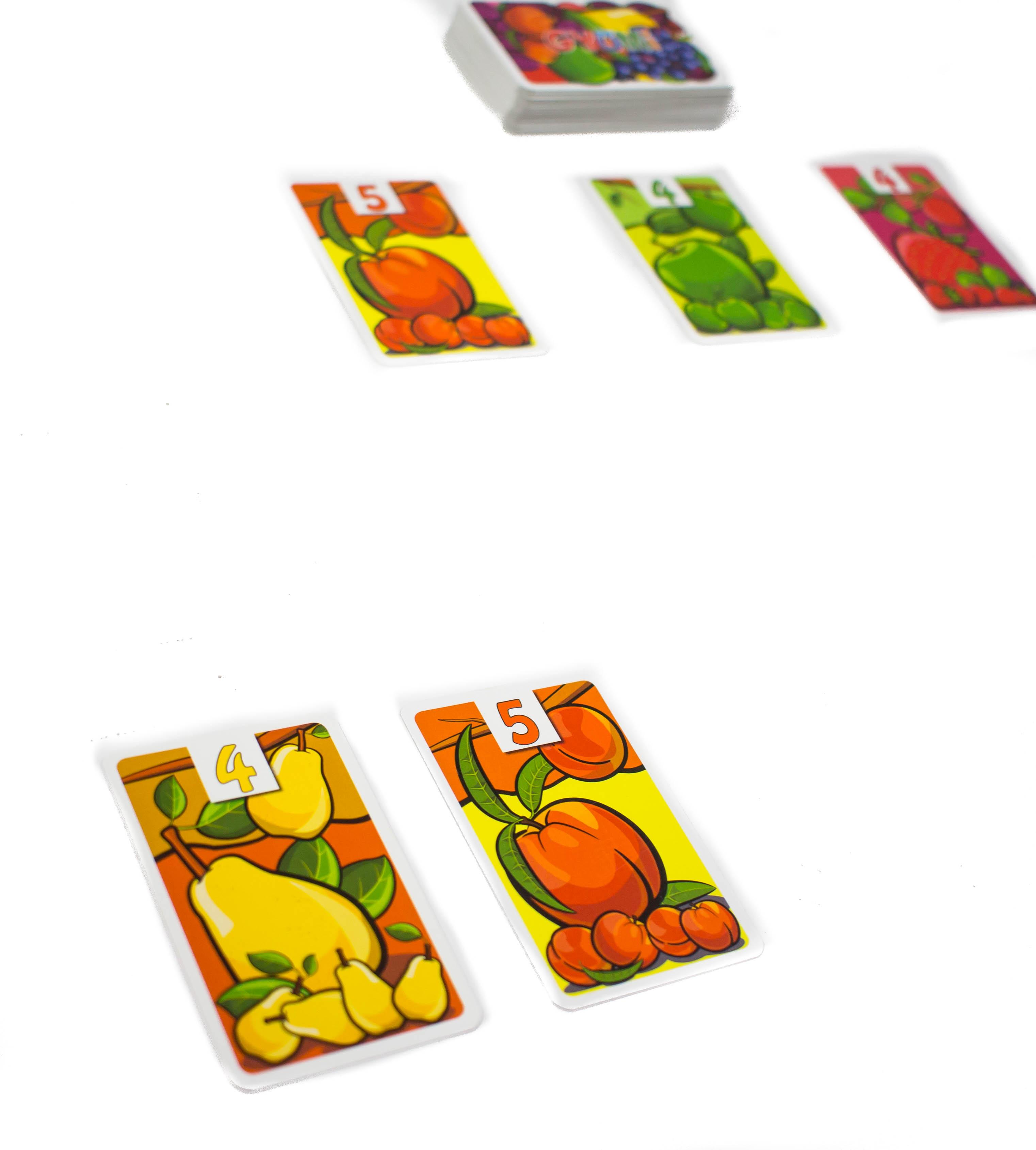 Minden játékos fajtánként egy gyümölcsöt gyűjthet.