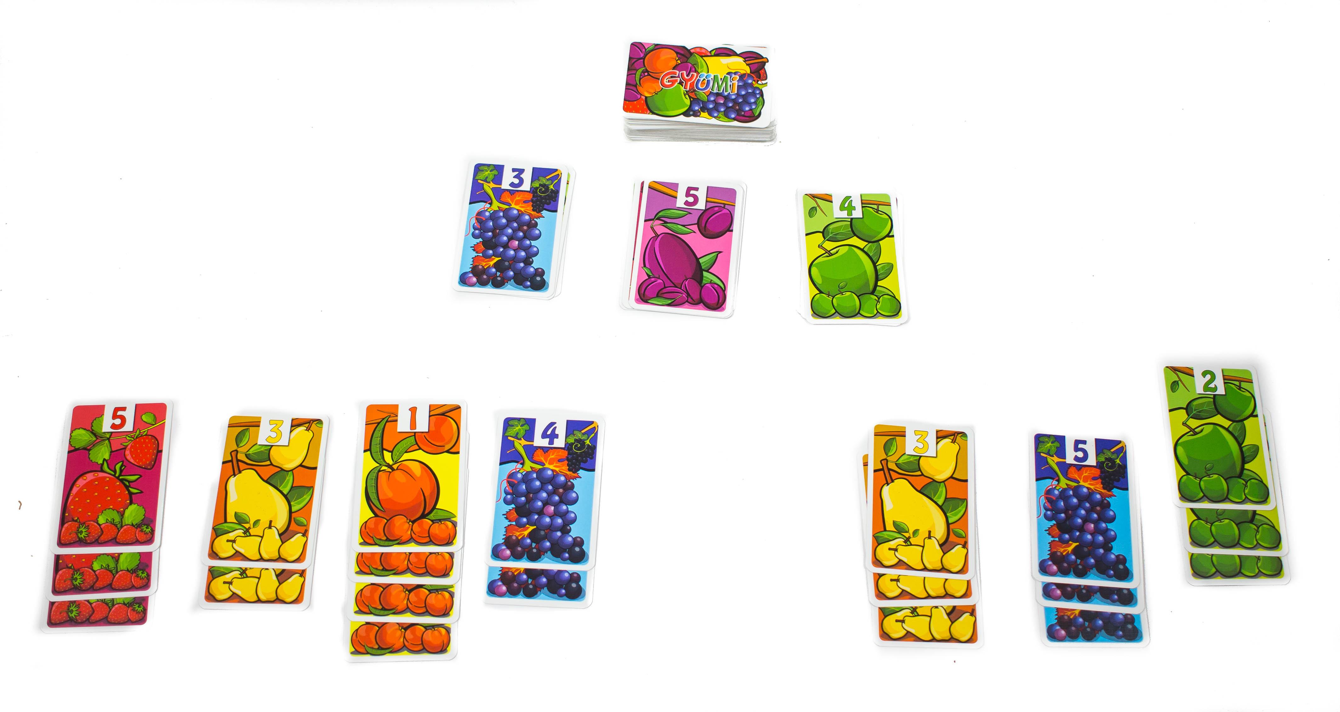 Akkor kezdi a játék megmutatni az igazi izgalmait, amikor már négy, vagy akár többféle gyümölcsből is van már három-négy kártyánk.