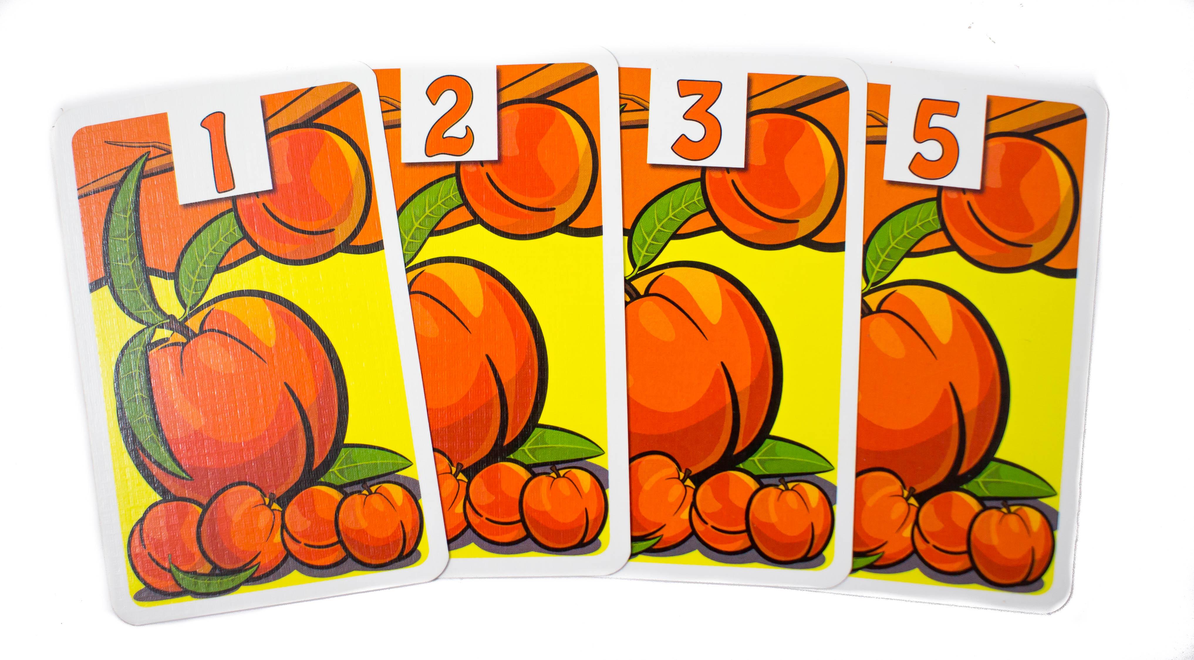 Mivel a sorból hiányzik egy (a négyes), így nem jár a maximális pontszám ( 11) csak a három kártyából álló sorozat öszegyűjtéséért megérdemelt 5 pont.
