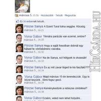 Facebook-on a Pörzse-Vona vita