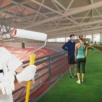 Az épülő Új Puskás stadion ad otthont az utánpótláskorú hidegburkolóknak
