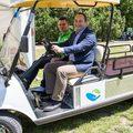 Elektromos autó állt szolgálatba a Bókay-kertben