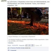Szórakoztató valláskritika - játék a tűzzel