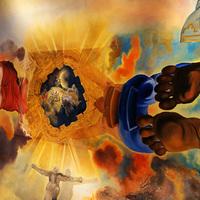 Látogatóban Dalínál - A Nagy Szalon mennyezete