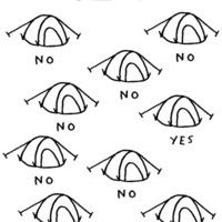 Hogyan ismerd fel saját sátradat (éjszaka is)
