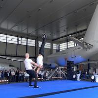Adria Tehnika repülőgép javító bázisa Ljubljanában