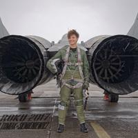 Lengyel MiG-29-es pilótanő