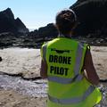 Drónpilóták a tengerparton