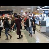 El Al ünnep Budapesten flashmobbal