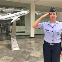 Carla, a brazil Air Force One kapitánya