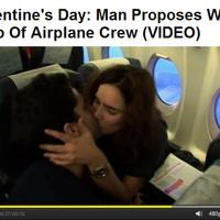 Valentin napi leánykérés a levegőben