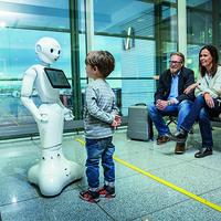 Robotlány a müncheni repülőtéren