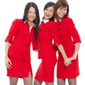 Stewardessek pirosban