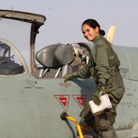 Először repült pilótanő vadászgéppel Indiában, méghozzá MiG-21 Bison típussal