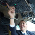 Alja az Adria Airways kapitánynője