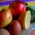 Almakrémleves bazsalikomos citromhabbal